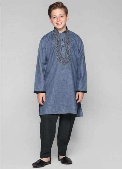 Cotton Threaded Kurta Salwar