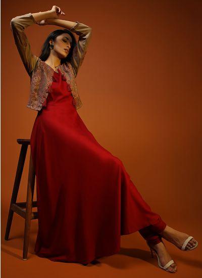 Woven Bolero Damask Dress