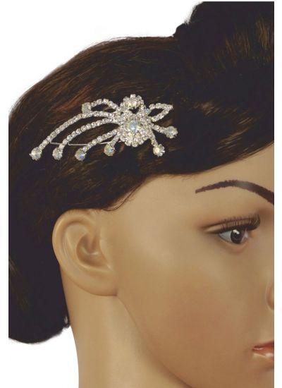 Silver Diamonte Hair Clip