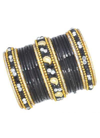 Intricate Stone Bangle Set