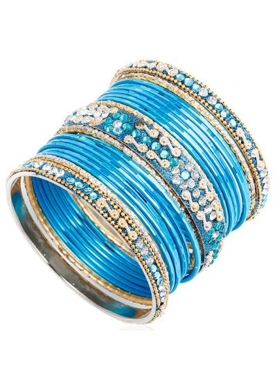 Ornate Coloured Bangle Set