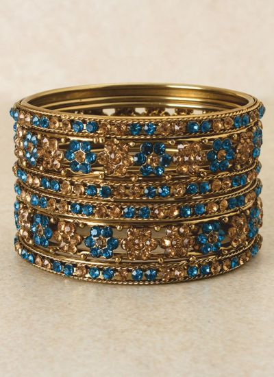 Antique Gold Bangle Set
