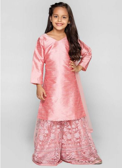Rose Sharara Resham Dress