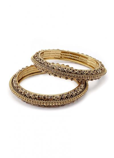 thread silk and kada bangles white jewellery golden bangle