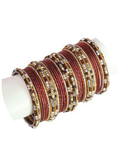 Embellished Studded Bangle Set