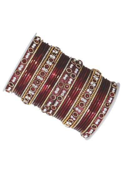 Ornate Glass Bangle Set
