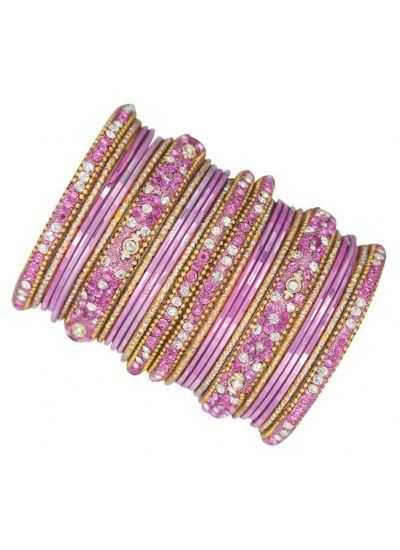 Studded Double Bangle Set