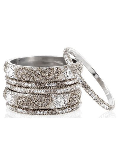 Silver Chic Bangle Set