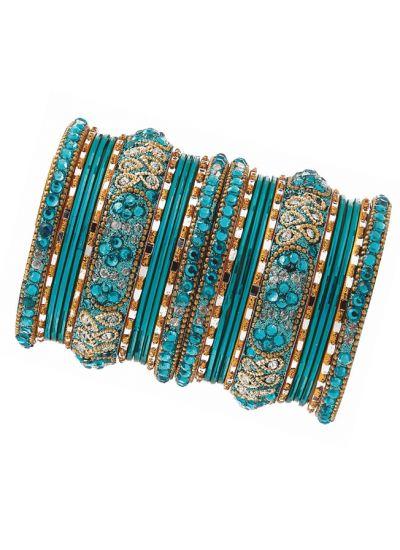 Diamonte Intricate Bangle Set