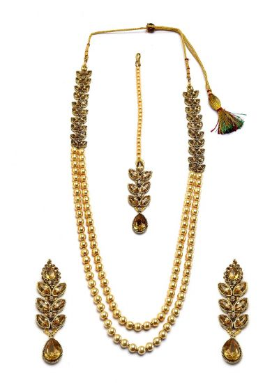 Pearl Leaf Necklace set