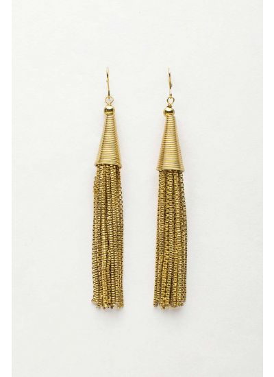 Tassel Link Drop Earrings