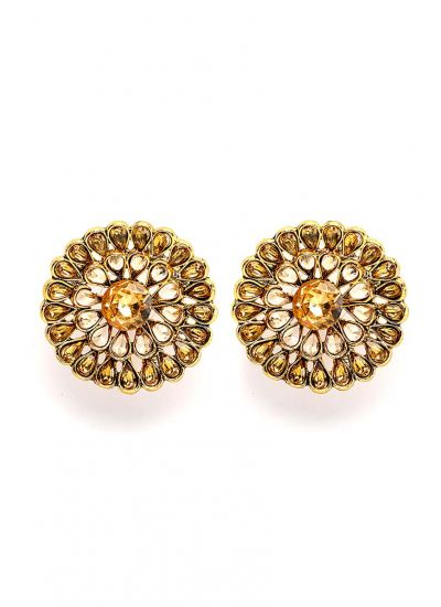 Gold Crystal Stellar Earrings