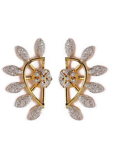 Floral American diamond Earrings