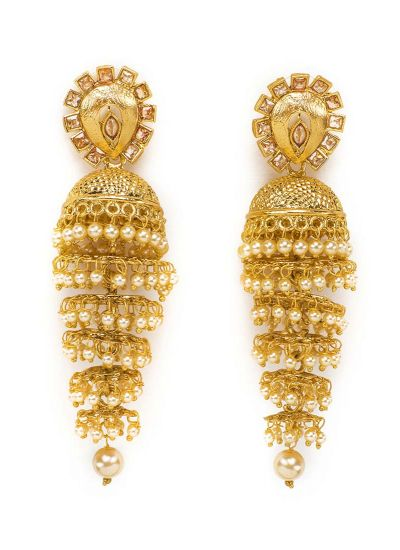 Gold layered Jhumkis