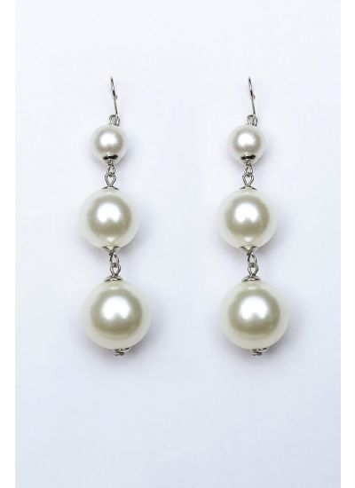 Pearl Ball-Drop Earrings