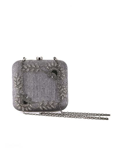 Rectangular Studded Clutch
