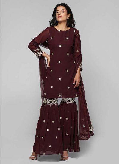 Zari Embellished Gharara Suit
