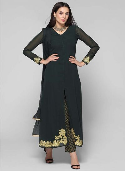 Embroidered Jacquard Trouser Suit