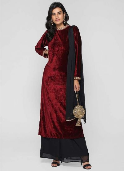 Embroidered Band Palazzo Suit