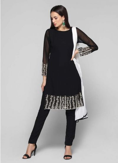 Zardozi Straight Shift Dress