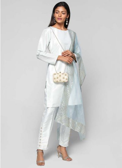 Silk Embroidered Trouser Suit