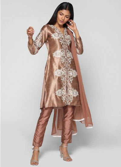 Silk Intricate Threaded Trouser Suit