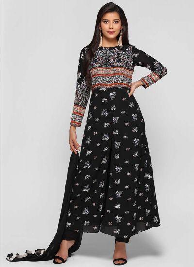 Bodice Printed A Line Dress