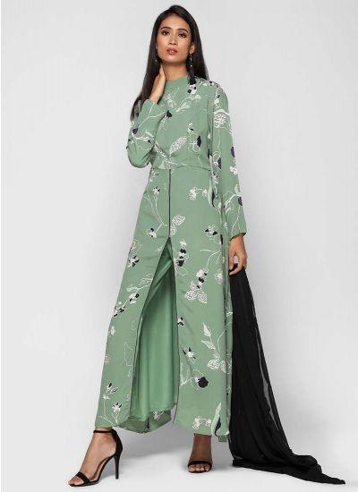 Pistachio Front Slit Dress