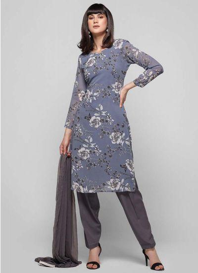 Periwinkle Printed Salwar Suit