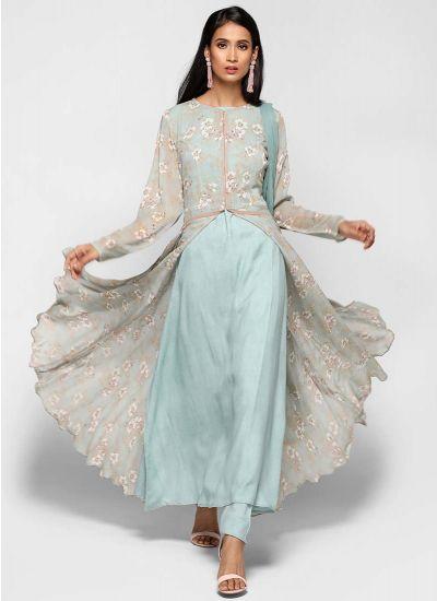 Mint Flow Jacket Dress