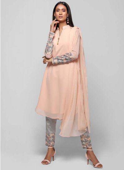 Cropped Empire Print Dress