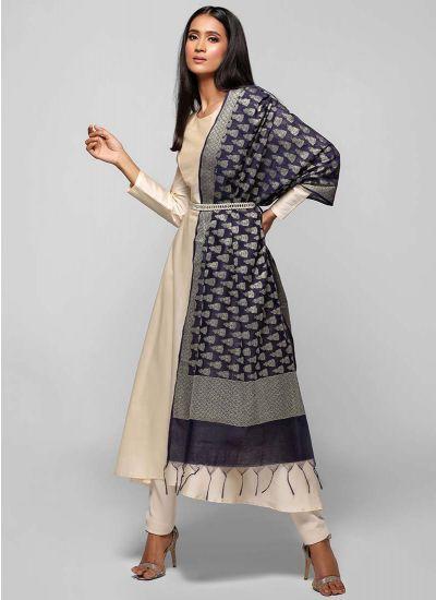 Silk Jacquard Bias Cut Suit