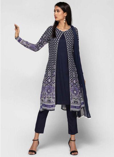 Purple Tonal Jacket Dress