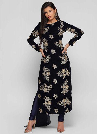Zari Botanic Velvet Suit