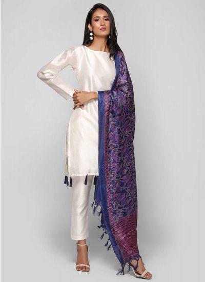 Kantha Printed Dupatta Suit