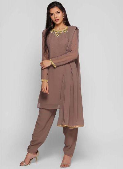 Embroidered Shift Salwar Suit