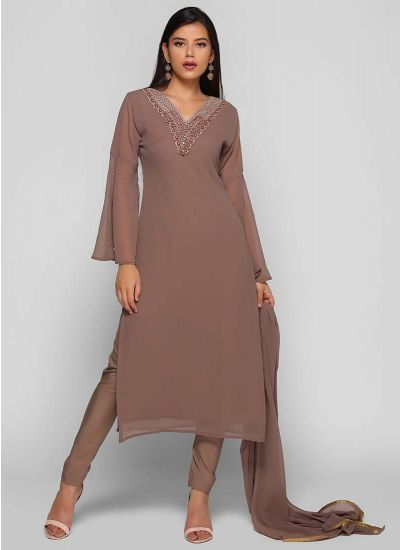 Straight Cut Bell Sleeves Suit