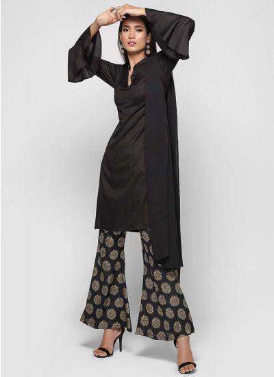 Jacqaurd Bell Bottom Trouser Suit
