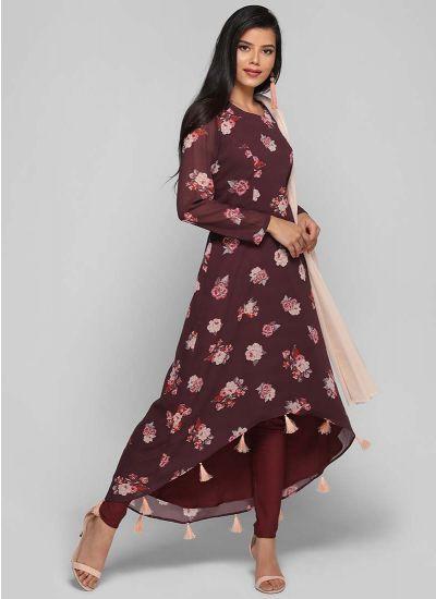 Rose Asymmetric Tassel Suit