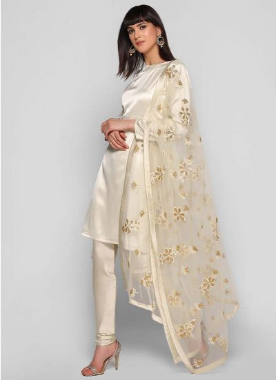 Floral Pearl Dupatta Suit