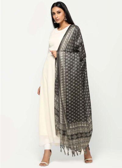 Imperial Grey Silk Dress