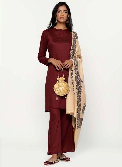 Kashmiri Paisley Shawl Suit