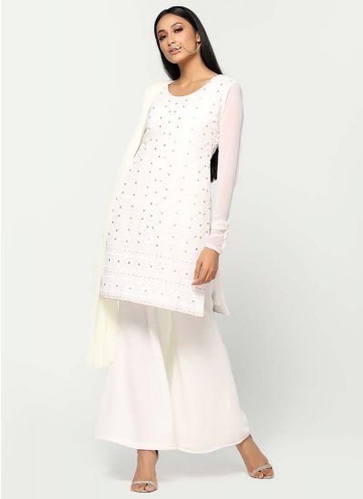 Chikankari Ivory Dress