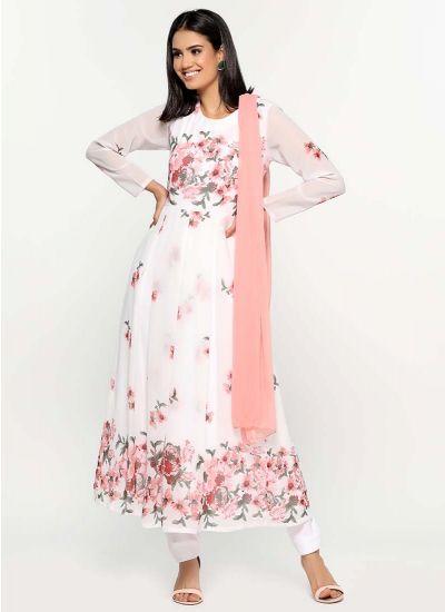 Dahlia Placement Print Dress