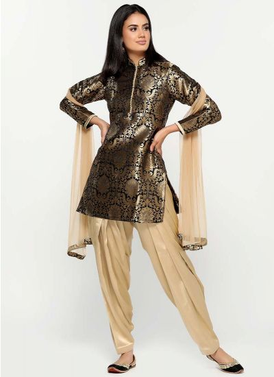 Metallic Brocade Damask Kurta