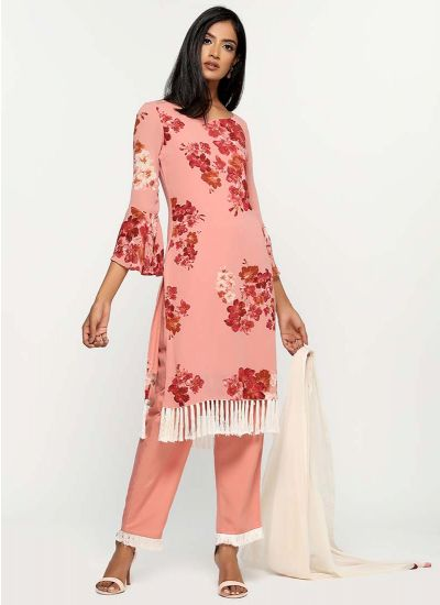 Poppy Printed Fringe Dress