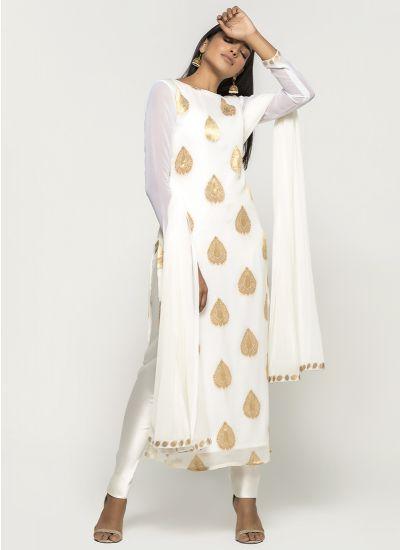 Jacquard Zari Dress