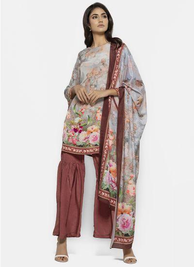Digital Garden Gharara Dress