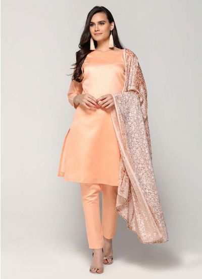 Persica Embroidered Silk Suit