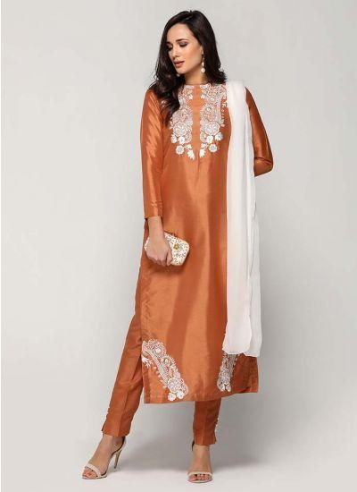 Peachy Resham Threaded Trouser Suit